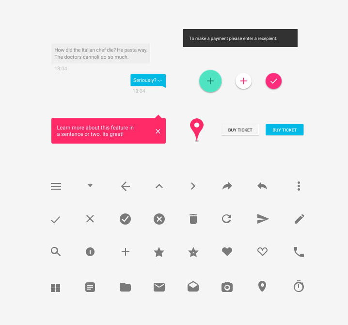 Web Application Mobile App UI Design Kits and Conventions
