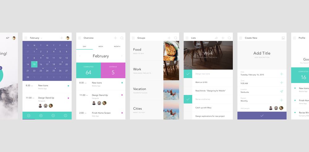High Fidelity Prototyping Mockups