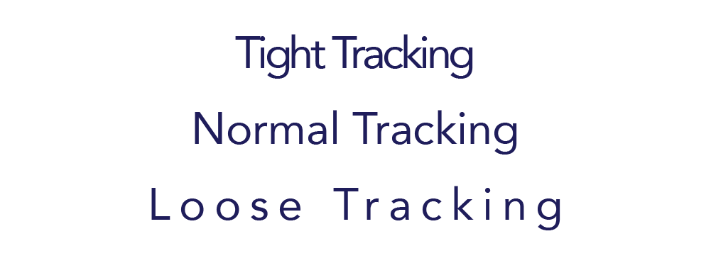 Web Typography Tracking