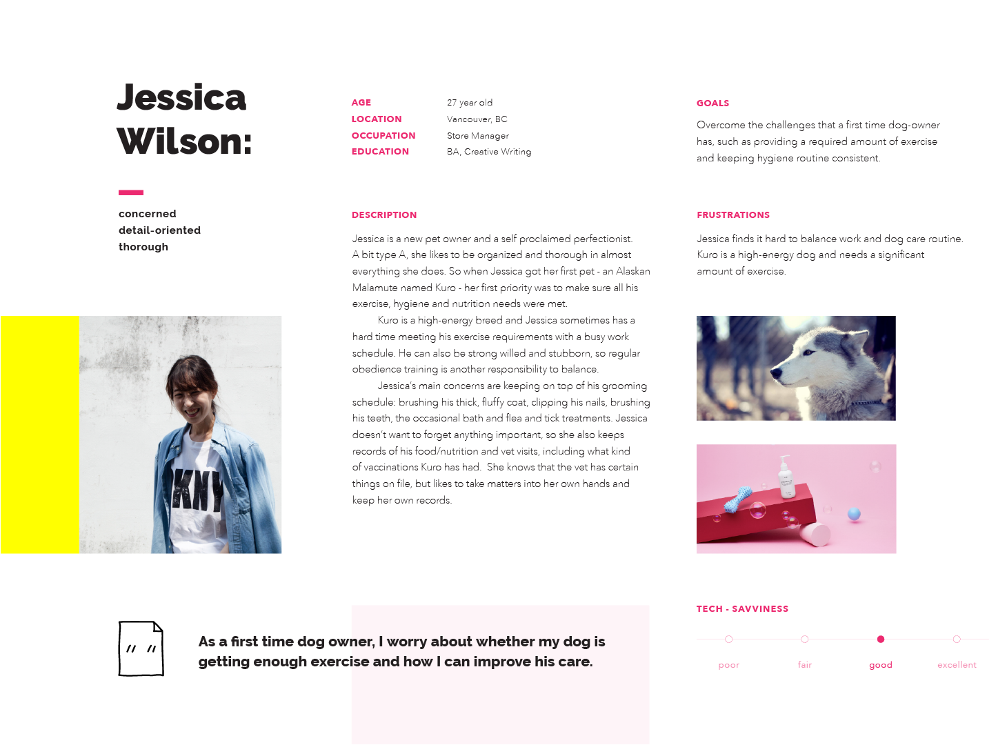 Bow Wow User Persona Jessica Wilson