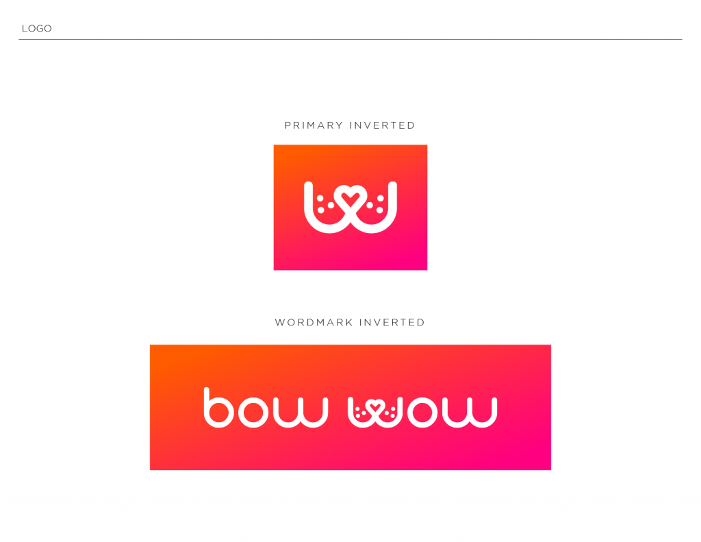 Bow Wow Branding primary logo and wordmark inverted