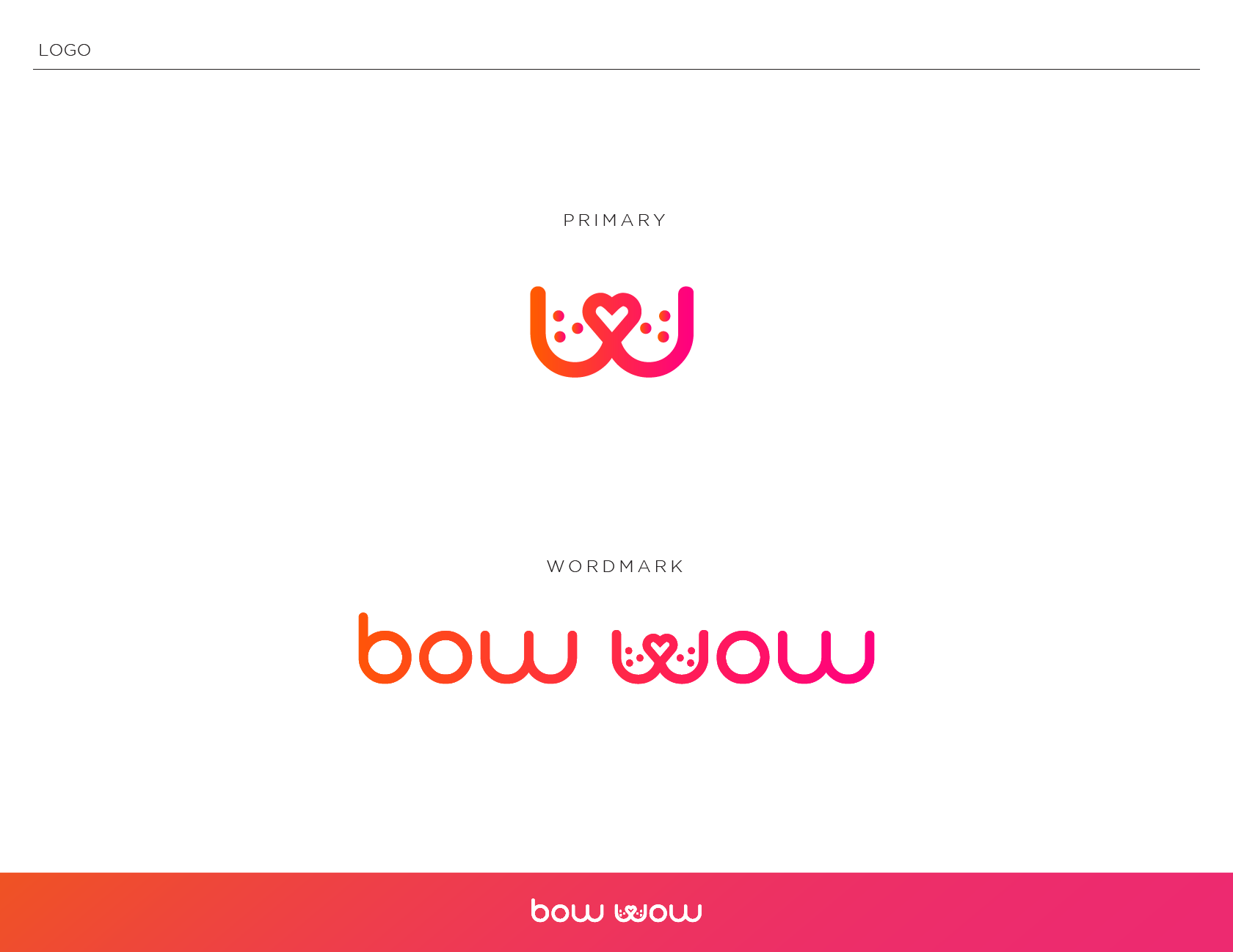 Bow Wow Branding primary logo and wordmark