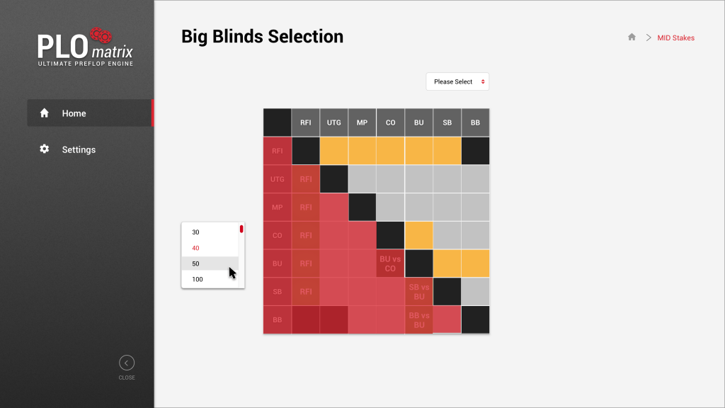 PLO BIG BLINDS (NEW USER) SELECTION 1